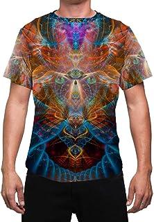 Animal Totem Mens T Shirt   Trippy Animal Shirt   Masculine   Shaman   Festival Shirt   DMT Shirts   Psy   Shaman Animal