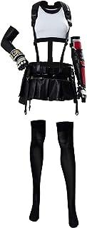 Womens Tifa Lockhart Cosplay Costume Halloween Final Fantasy VII Remake FF7 Cosplay Full Set Outfits