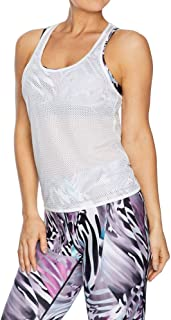 Rockwear Activewear Women's Kaleidoscope Tie Back Singlet White 6 from Size 4-18 for Singlets Tops