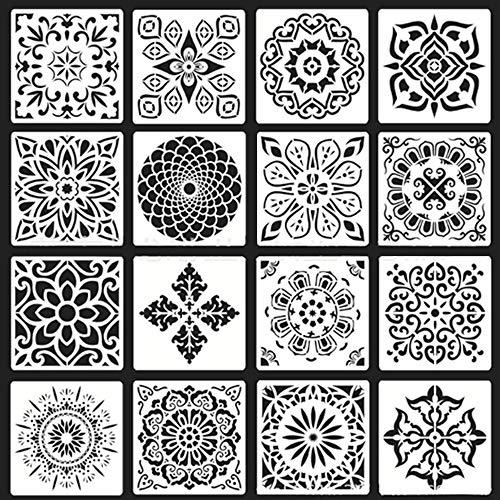 5 plantillas de pintura reutilizables hechas de pl/ástico //// ESTRELLA //// 34x34cm x 9x9cm //// decoraci/ón de la habitaci/ón de los ni/ños //// multiusos //// para ni/ños //// de pared //// para guarderia
