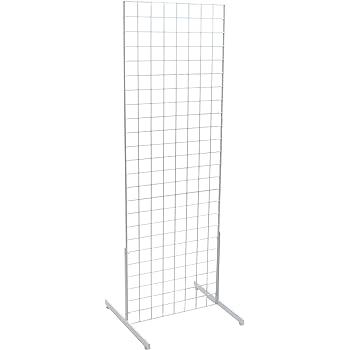 KC Store Fixtures 05352 Grid Unit, 2' x 6' with Legs, White