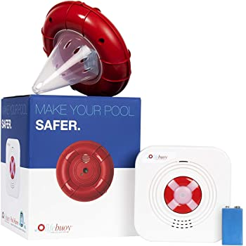 Lifebuoy Pool Alarm System - Pool Motion Sensor with Advanced Algorithm - Smart Pool Alarm That is Application Controlled. Powerful Sirens Blare at Poolside and Indoors.