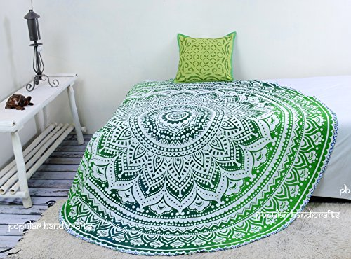 Popular Handicrafts Roundie Indian Mandala Throw Tapestry Hippy Round Table Cover Beach Throw Picnic Tapestry Round 70