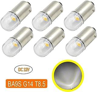 BA9S G14 LED バルブ ポジションランプ ホワイト 6000k 防水 拡散レンズ ルームランプ 12V車用 6個
