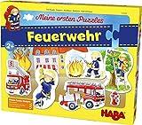 HABA 303698 - Meine ersten Puzzles – Feuerwehr | Kinderpuzzle mit 5 spannenden Feuerwehrmotiven ab...