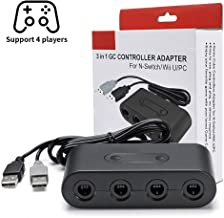 BAVST 2019 Version Gamecube Controller Adapter Compatible with Switch, WiiU, PC Gamecube Converter for Nintendo with Turbo Mode, 4 Ports and No Driver Need