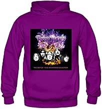 Soulya Women's Phoenix Rising Deep Purple Rock Hoodies Sweatshirt Size US Black