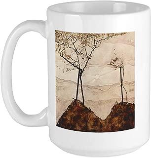 CafePress-Egon Schiele Autumn Sun And Trees Large Mug