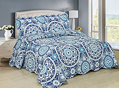 3-Pc Quilted Bedspread Set