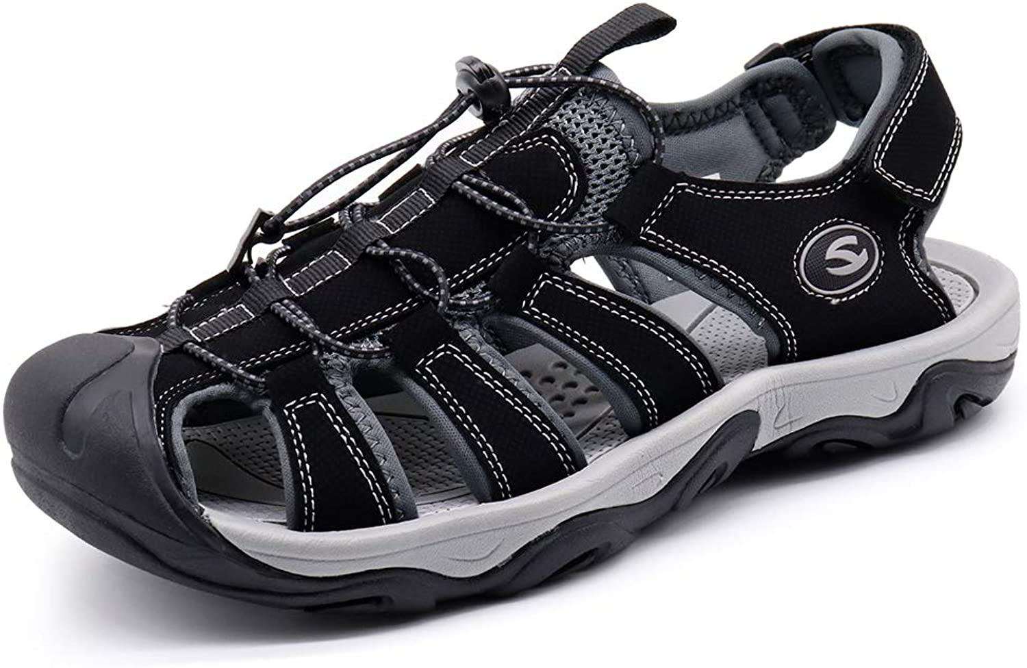Hiking Sandals for Men Outdoor Athletic Climbing Summer Beach Fisherman Traveling (H7867hei43)