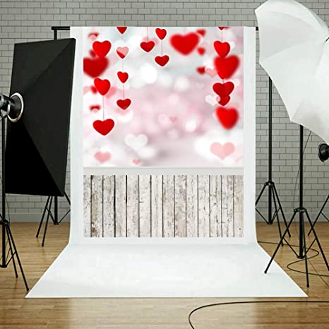 Ueb Romantische Valentinstag Herz Liebe Fotografie Hintergrund Stoff Foto Studio 03 Musikinstrumente