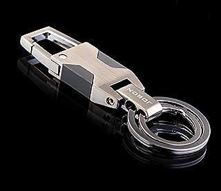 高級感漂うダブルリング Wリング式 DOS キーホルダー 高機能 カラビナフック オシャレ デザイン 車 家 鍵 (グレー)