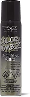 Sultry Silver Glitter Temporary Hair Color Spray