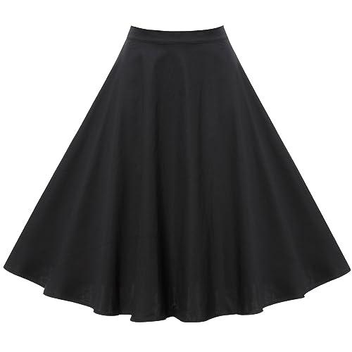 7d4563fc731e2 Laorchid 50s Women's Pleated Skirt Swing Inspired Skirts Polka Dot  Rockabilly