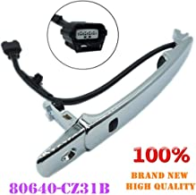Smart Entry Keyless Chrome Outside Door Handle Front Left Driver Side for 2010-2013 Nissan Rogue 80640-CZ31B 80645-CA000
