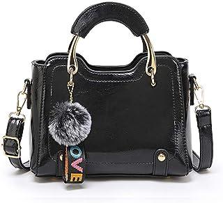 BUKESIYI Damen Tasche Umhängetasche Handtasche Frauen Klein Schultertasche Weekender Lack PU Leder CCDE77192