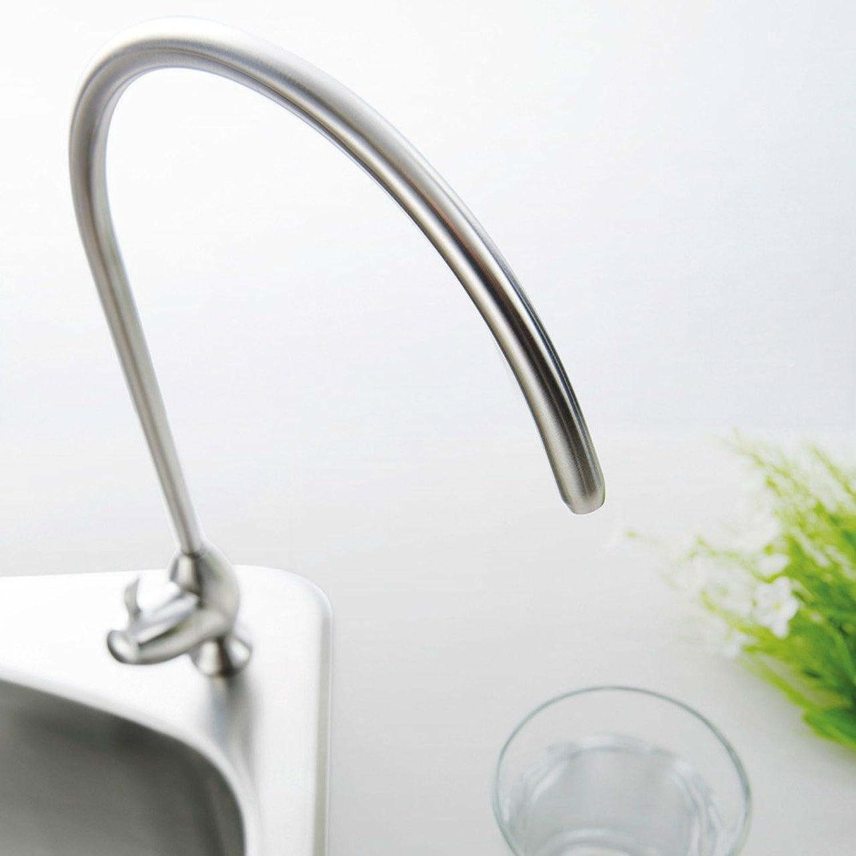 Küche mit herausziehbarer Dual-Spülbrause,Kaltes Heies Wassert 304 en acier inoxydable évier simple froid sans plomb vaisselle plat purificateur d'eau de piscine pur robinet droit
