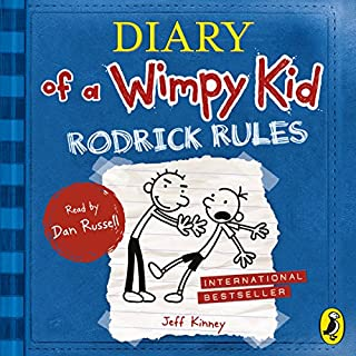 Rodrick Rules     Diary of a Wimpy Kid, Book 2              Written by:                                                                                                                                 Jeff Kinney                               Narrated by:                                                                                                                                 Dan Russell                      Length: 2 hrs and 28 mins     Not rated yet     Overall 0.0