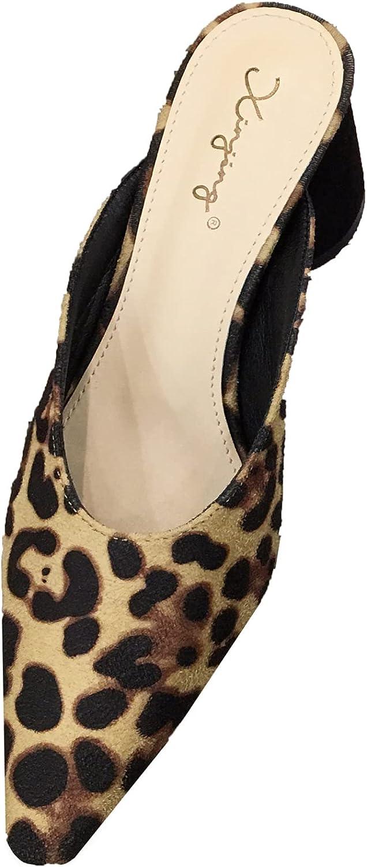 High-Heel Chunky Mules Shoes Made Women Sl Cheap bargain Award for Open-Back Elegant