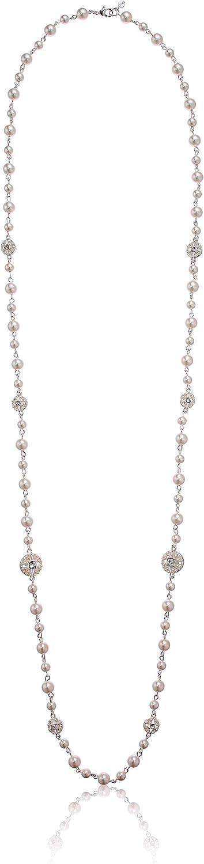 Napier Women's Pearl Strandage Necklace, White Tone