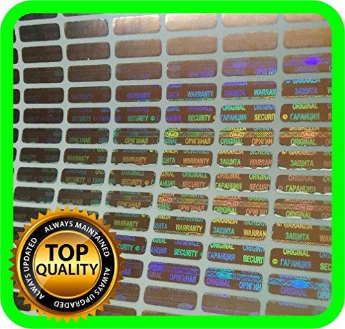 1050Holograma etiquetas, sello, garantía, adhesivo Tamper Evident 12x 4mm