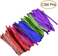 Twist Ties 1200 Pcs Metallic Twist Ties for Treat Bags Home and Kitchen Accessories Twist Tie for Festival Party Packs (1200 Pcs)