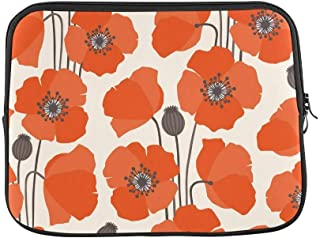 """ASKSWF Design Custom Poppy Sleeve Soft Laptop Case Bag Pouch Skin for Air 15inch""""(2 Sides)"""