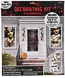 amscan Haunted Asylum Halloween Scene Setters Decorating Kit, Plastic, Pack of 33 Decorations Multicolor, 3