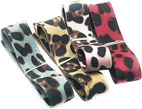 Baoblaze 2.5cm 4 Yards Wild Style Leopard Ribbon Velvet Ribbon for Flower Arrangements Gift Packing Hair Accessory Design