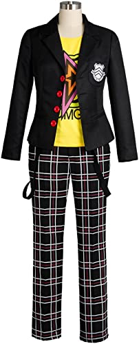 Persona5 Sakamoto Ryoji Protagonist Mantel Outfit Attire Schuluniform Suit Cosplay Kostüm Herren L