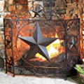 BLACK FOREST DECOR Decorative Rustic Indoor and Outdoor Fireplace Screen
