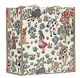 Signare Tapiz Bolsas Reutilizables Bolsa Compra Tote Bag con diseño de Flores y Criaturas de jardín (Alicia en el país de Las Maravillas)
