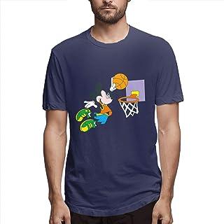 Aiguan Mickey Dunk Mens Cool Short Sleeve T-Shirt Navy