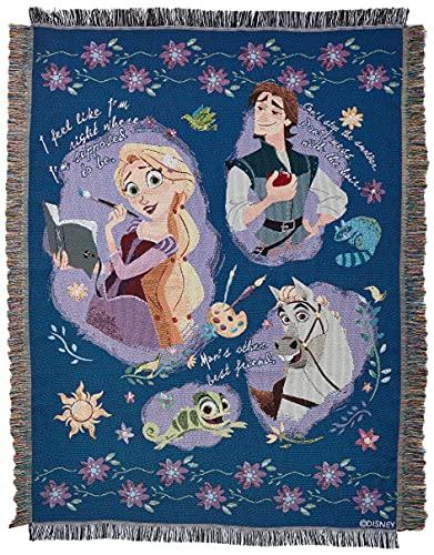 Disney Princesses Wandteppich/Überwurf, verwirrt, gewebt, Storytime verheddert