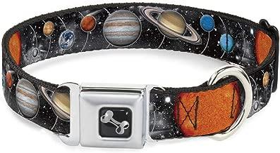 "Buckle-Down 9-15"" Solar System Sun/Planets/Stars Dog Collar Bone, Small"