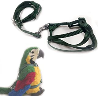 ASOCEA Adjustable Bird Harness and Leash for Yellow Naped Amazons Galah Cockatoos Small to Medium Breed Parrots Fits Birds Chest Between26-40cm /10.24-15.75inch