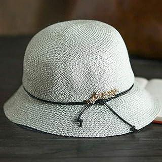 Lxrzls Sombrero pequeño Suave Sombrero de Sol Sombrero de Sol Viaje Sombrero Fresco Visor de Viaje Ajuste Plegable Transpirable (Color : Silver)