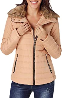 Macondoo Womens Warm Coat Puffer Cotton-Padded Quilted Down Jacket