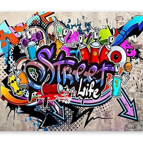 murando Papier peint intissé 350x256 cm Décoration Murale XXL Poster Tableaux Muraux Tapisserie Photo Trompe l'oeil Graffiti coloré eau i-A-0108-a-c