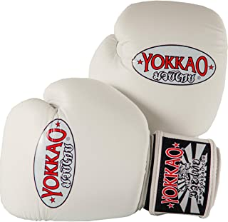 YOKKAO Cowhide Fight Gloves for Muay Thai, Boxing, Kickboxing and Martial Arts