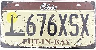 6x12 Inches Vintage Feel Rustic Home,Bathroom Bar Wall Decor Car Vehicle License Plate Souvenir Metal Tin Sign Plaque (Ohio 676XSX)