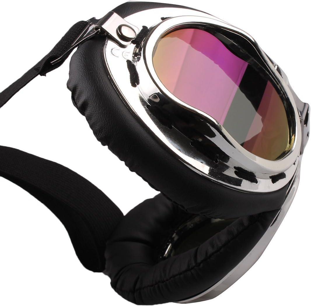 Hugestore sci occhiali sci neve snowboard occhiali di sicurezza occhiali protettivi per donne uomini Silver