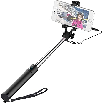 Dupadstory Wired Selfie Stick with Mirror for Rear Camera No Battery Charging Portable for iPhone 6S iPhone 6S Plus iPhone 6 Plus iPhone 5S,Android /& All Smartphones iPhone SE iPhone 6