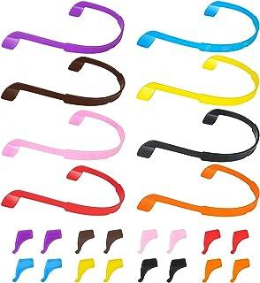 8 Pack Glasses Strap, Kids Eyeglasses Sunglasses Strap Glasses Band Holder Eyewear Retainer, Silicone Elastic Sports Toddl...