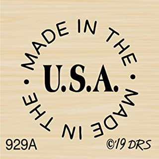Made in USA Circle Rubber Stamp by DRS Designs Rubber Stamps