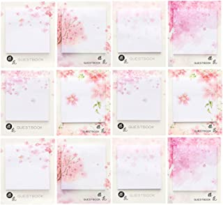 STOBOK 12 Pcs Floral Sticky Notes, Cute Self-Adhesive Notepads Paper Post Notes Stickers Scratch Pads for Home School Offi...