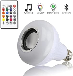 Sonmer Music Led Light Bulb with Bluetooth Speaker, Built-in Audio Speaker, With 24 Keys Remote Control