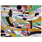 Legendarte - Cuadro Lienzo, Impresión Digital - Mujer Despertar - Paul Klee - Decoración Pared cm. 60x80