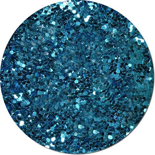 Glitter My World! Jumbo Flake Craft Glitter: 4 oz Jar Blue Dazzle