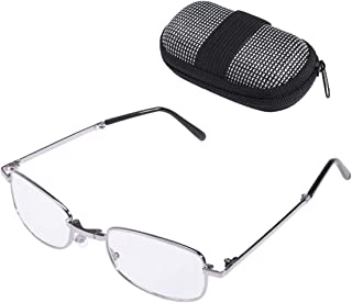 72d3ac3cdb Healifty Plegable Gafas de Lectura Clip de Nariz con Mini Estuche Paño de  Limpieza Presbicia Portátil